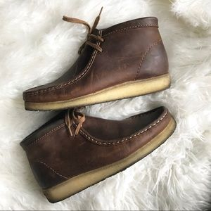 Clarks Original Brown leather chukka ankle boots
